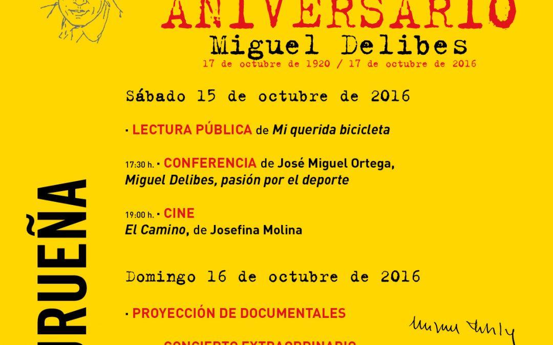 Actividades 96 aniversario de Miguel Delibes